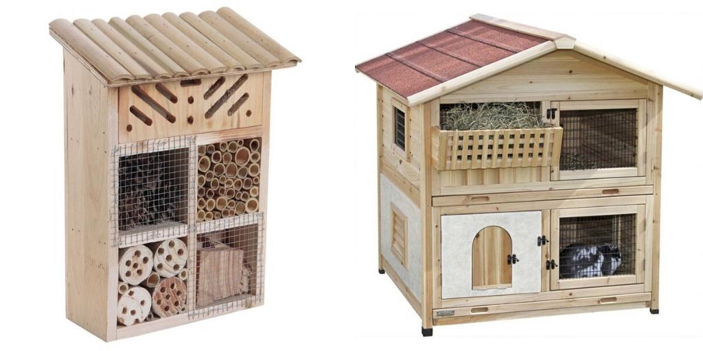 ambiance jardin naturel maisonnette insecte animaux