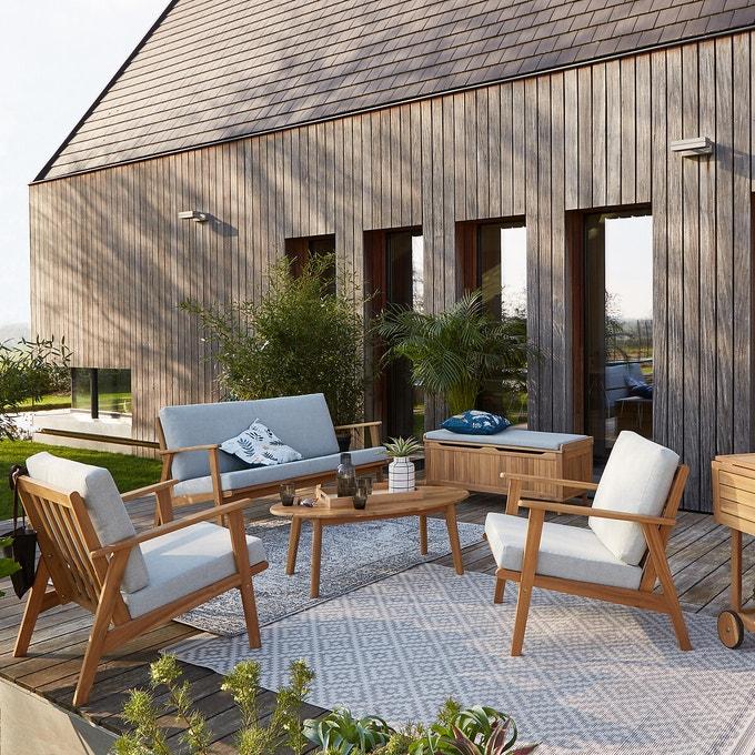 ambiance jardin naturel salon bois