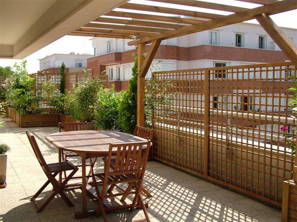 claustra balcon bois brise vue