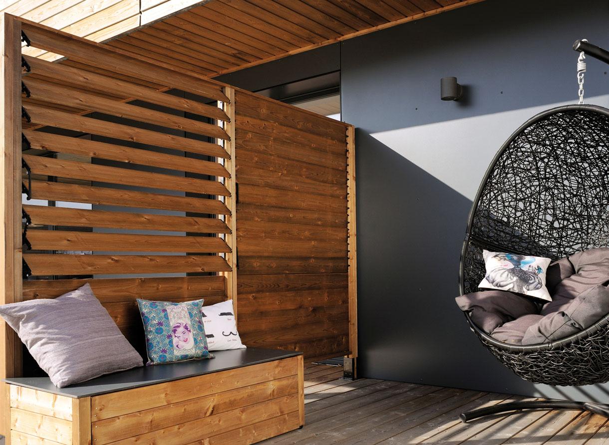 claustra balcon bois paravent