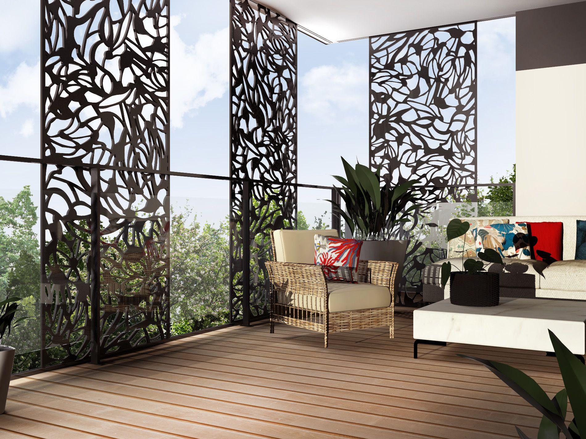 claustra balcon brise vue composite