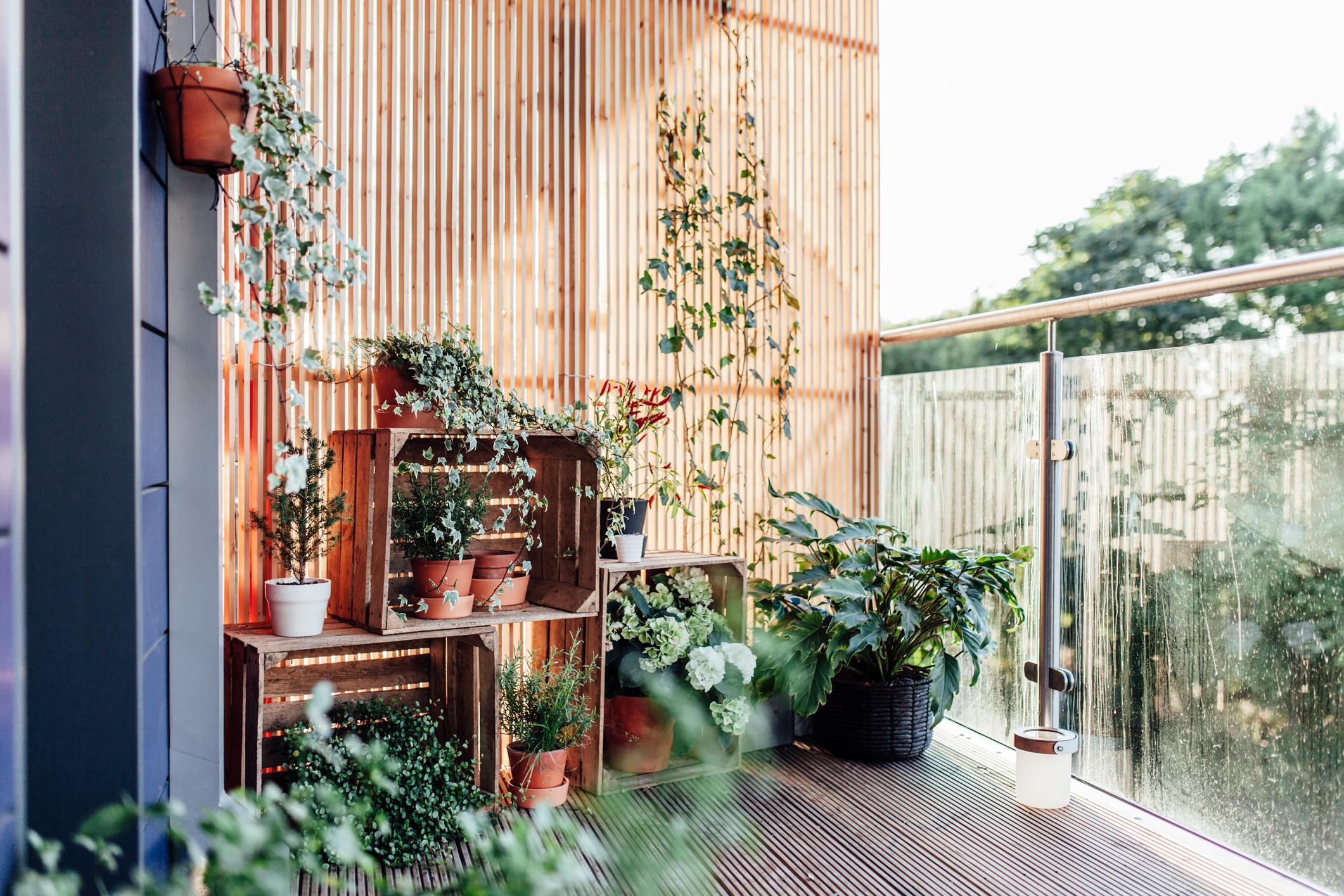 claustra balcon simple bois deco