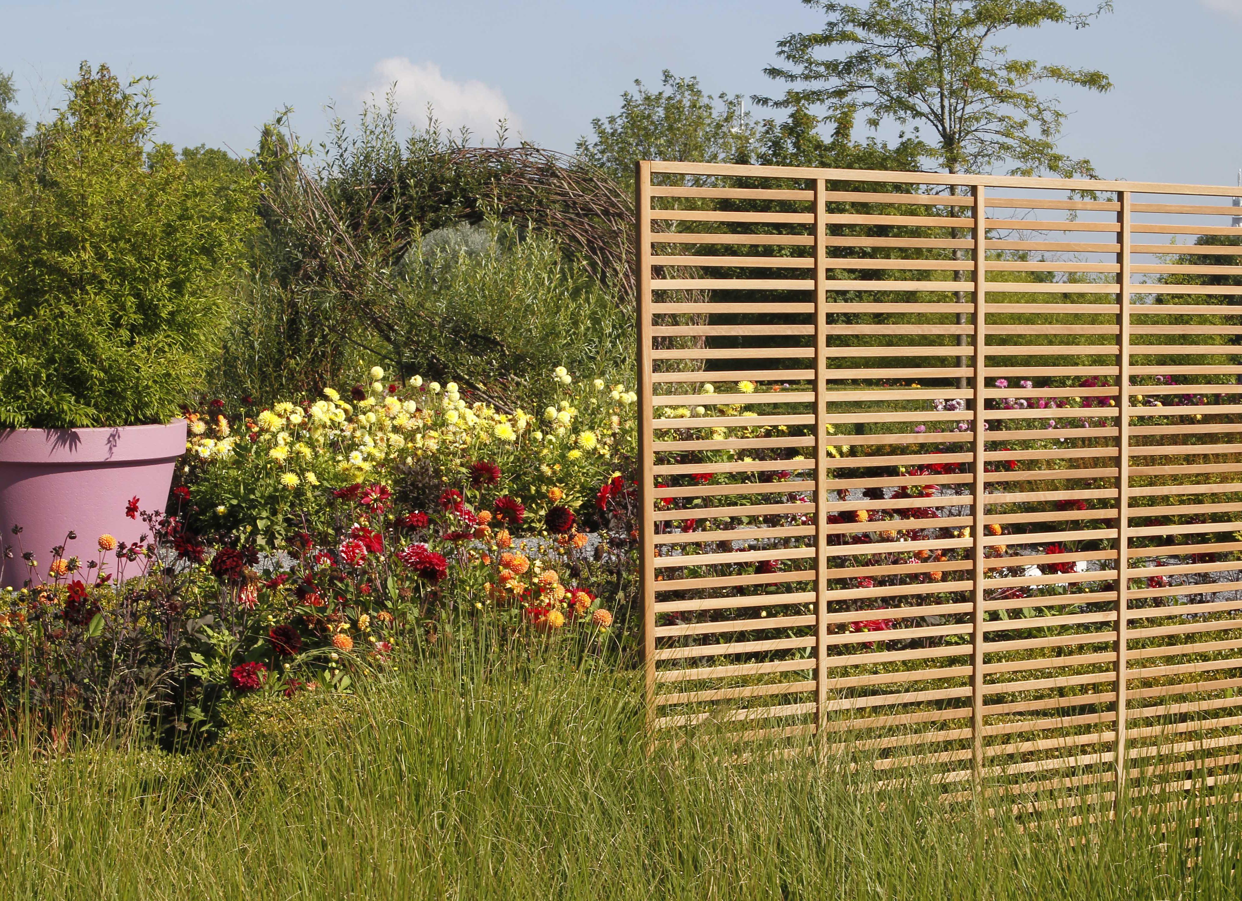claustra deco jardin bois