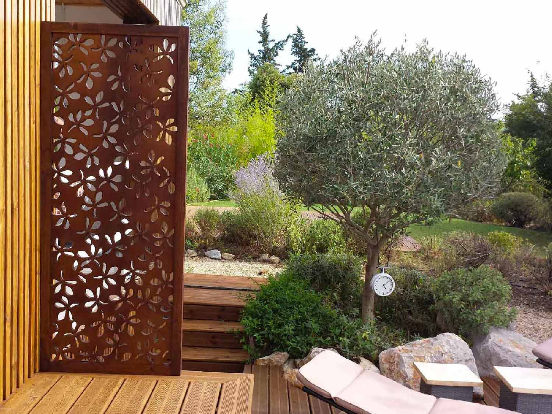 claustra deco jardin brise vue idee decoration