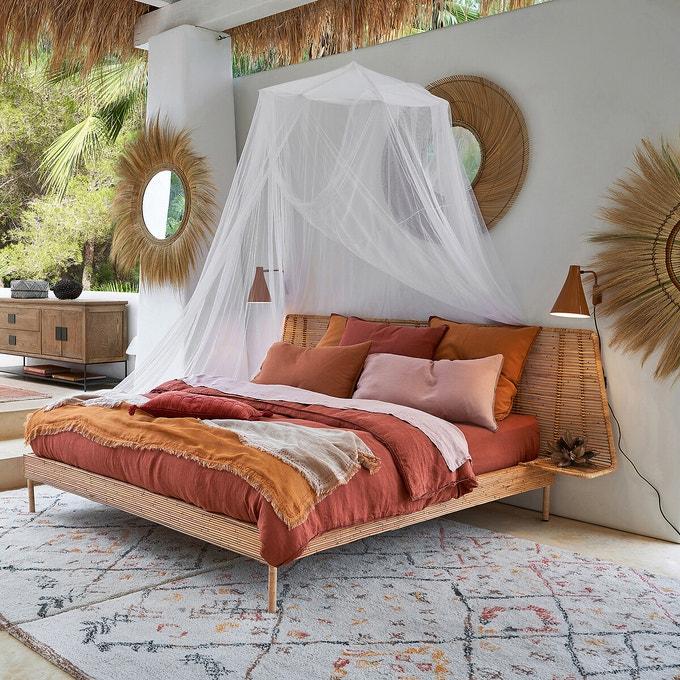couleur terracotta chambre linge de lit