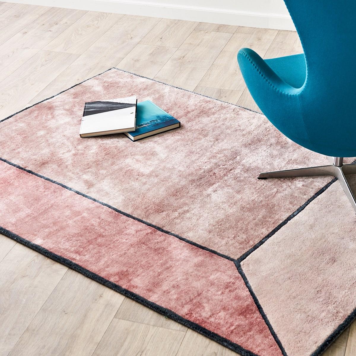couleur terracotta tapis moderne