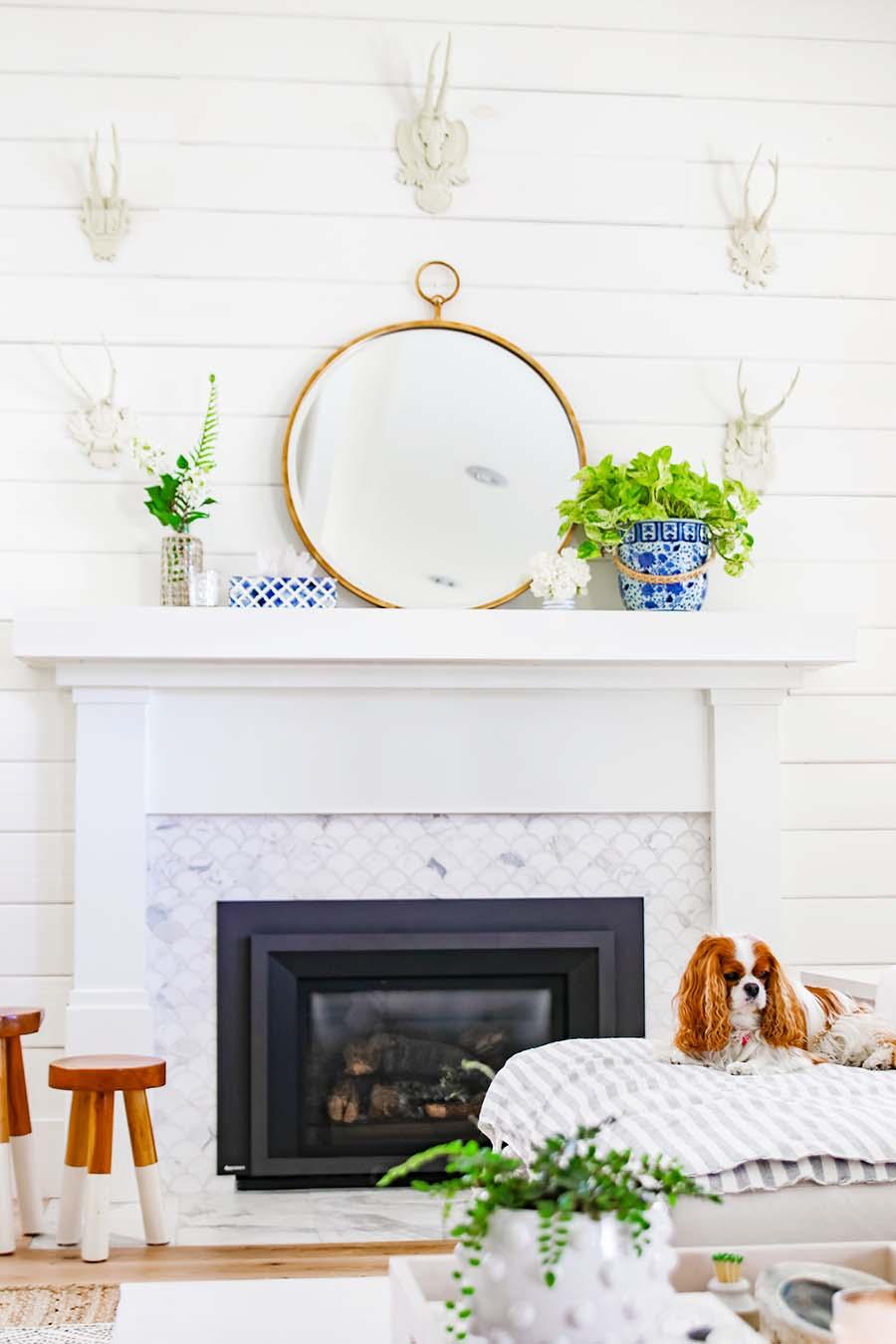 deco elegante feminine cheminee miroir