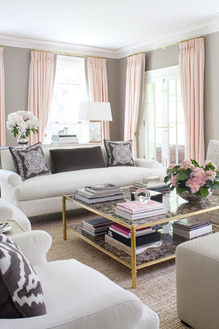 deco salon modern glam rose et gris