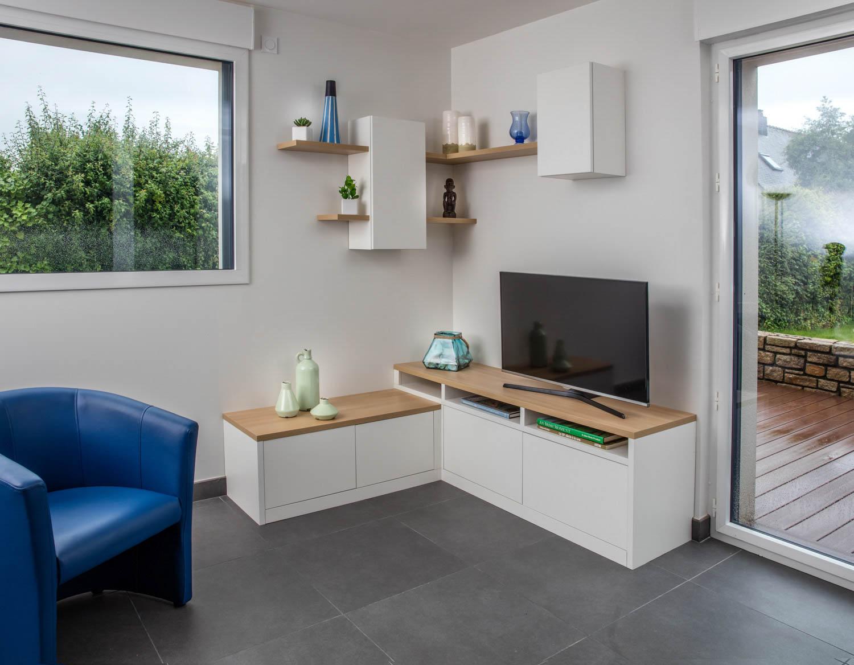 meuble angle television salon
