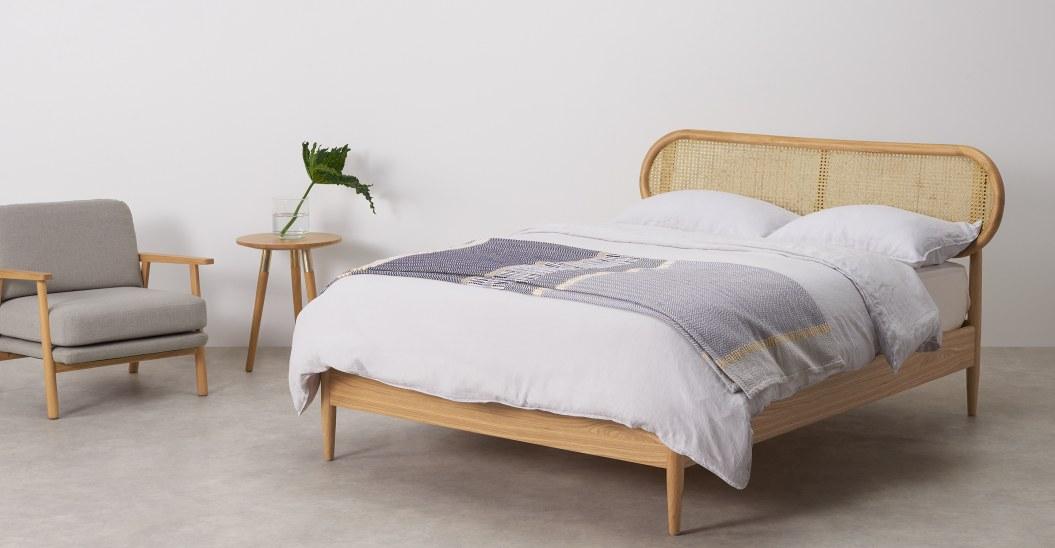 ou trouver tete de lit et lit rotin simple