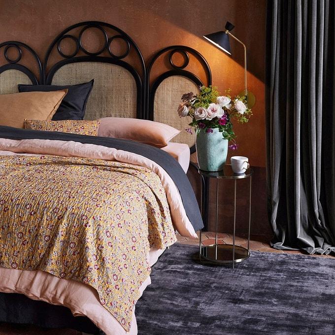 ou trouver tete de lit rotin noir naturel