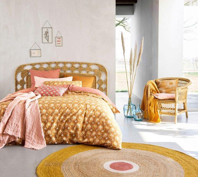 ou trouver tete de lit rotin tresse