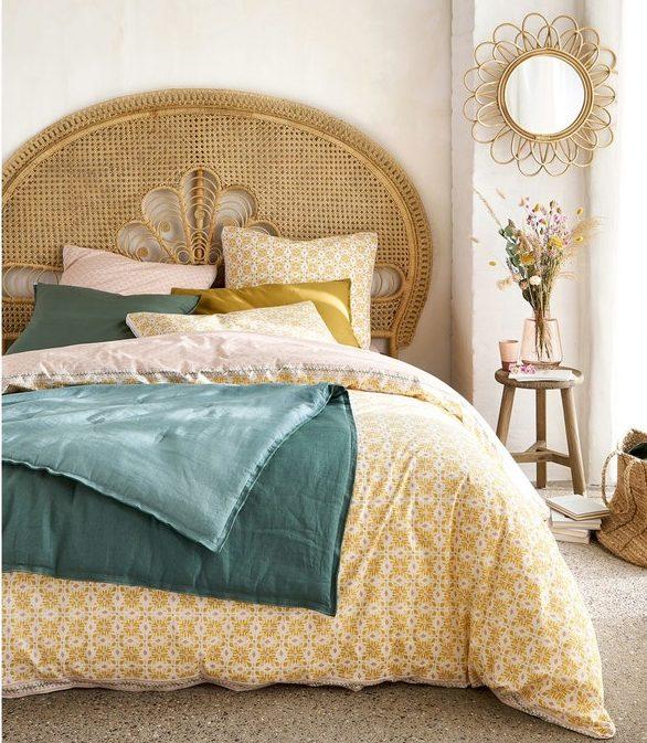 ou trouver tete de lit rotin vintage boheme