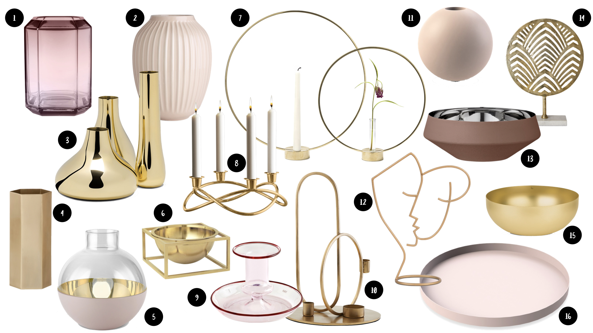 style modern glam accessoires decoration