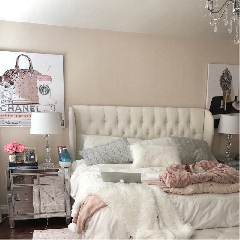 style modern glam chambre tete de lit