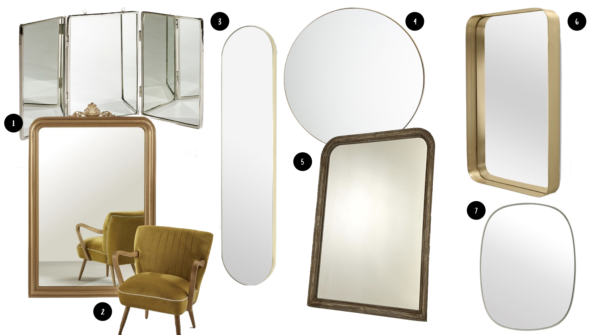 style modern glam miroir deco