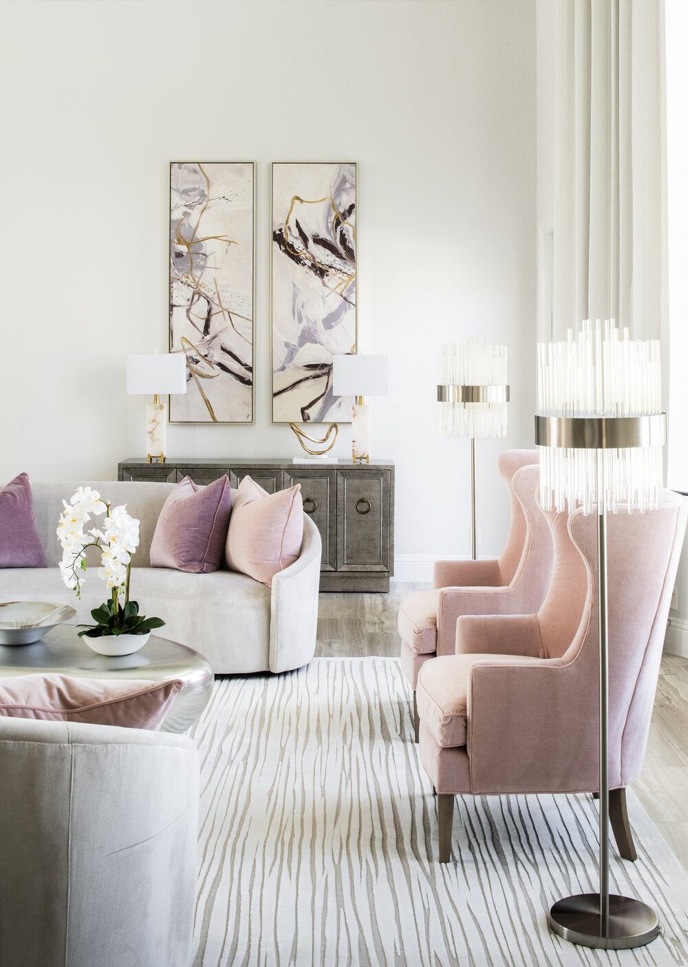 style modern glam salon
