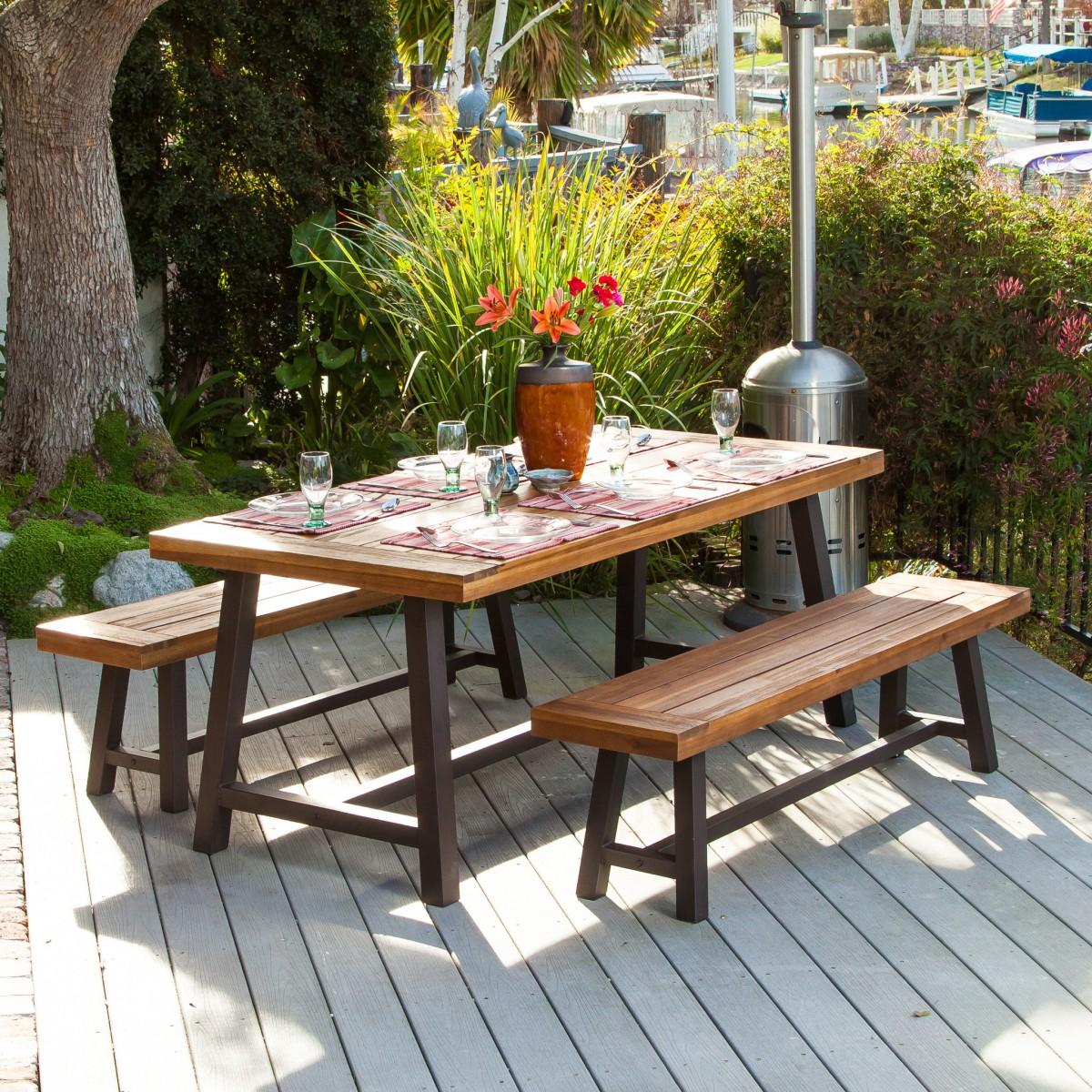 table de picnic idee deco
