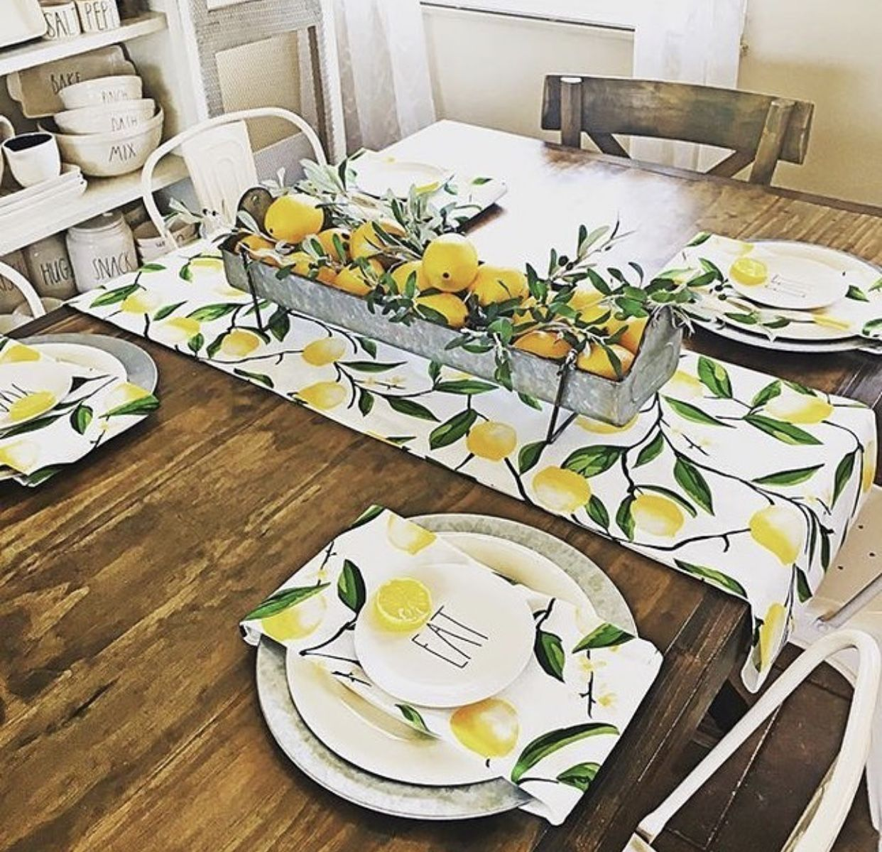 table ete decoration citron
