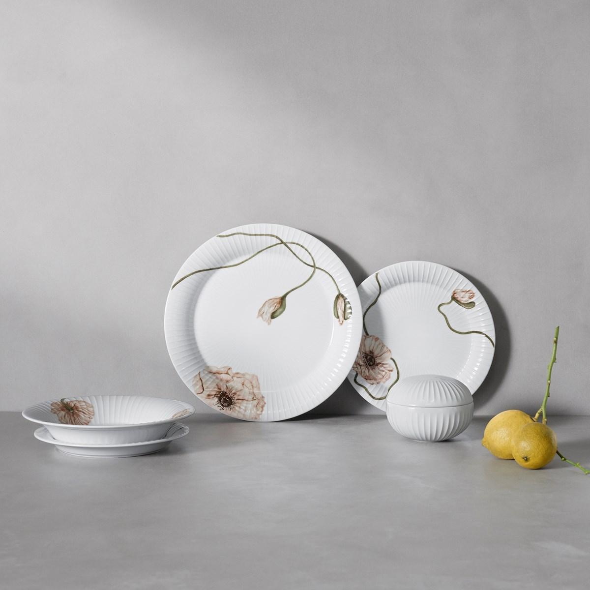 table ete motif coquelicot vaisselle