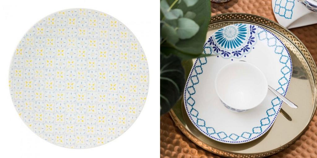table ete vaisselle motif fleur