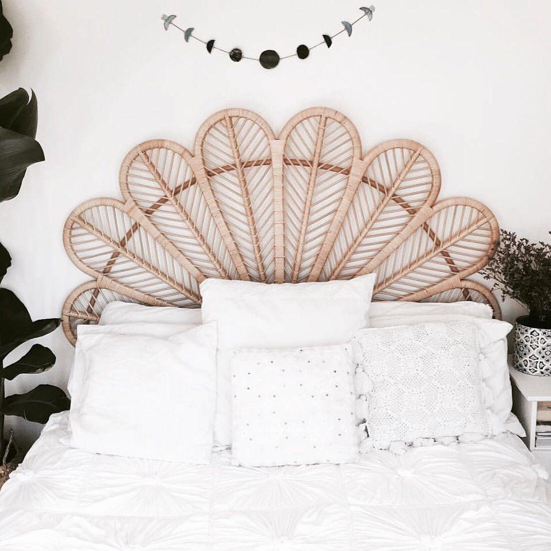 tete de lit rotin ambiance douce chambre