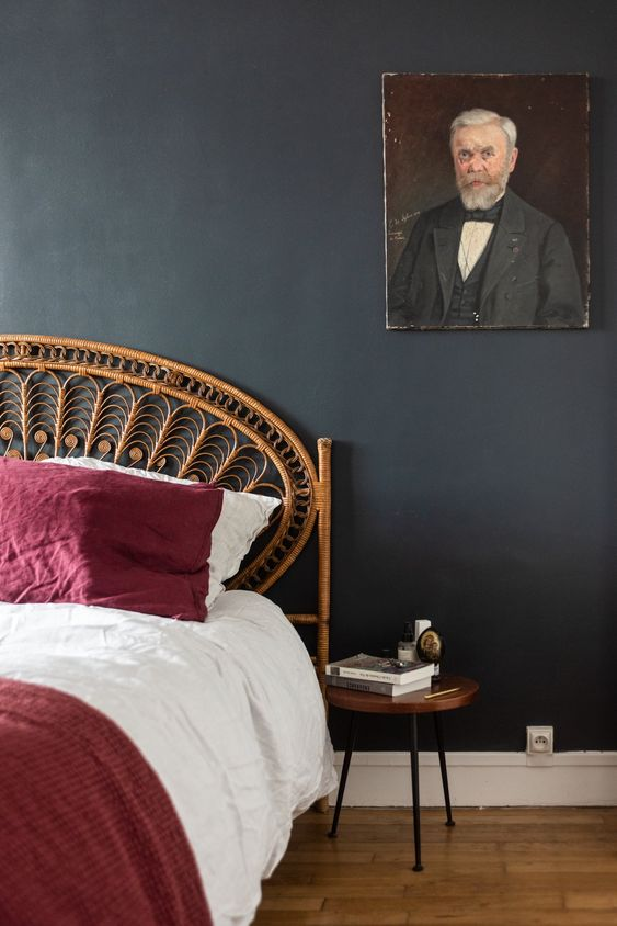 tete de lit rotin ambiance elegante et feminine