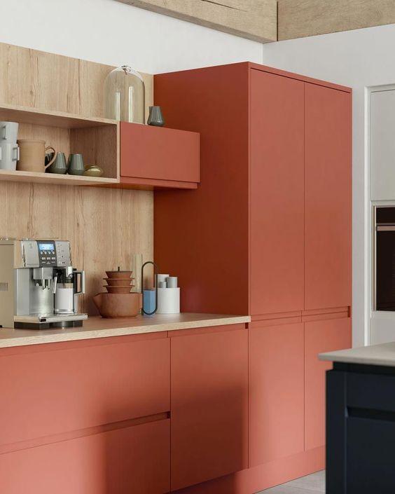 couleur deco terracotta cuisine mobilier
