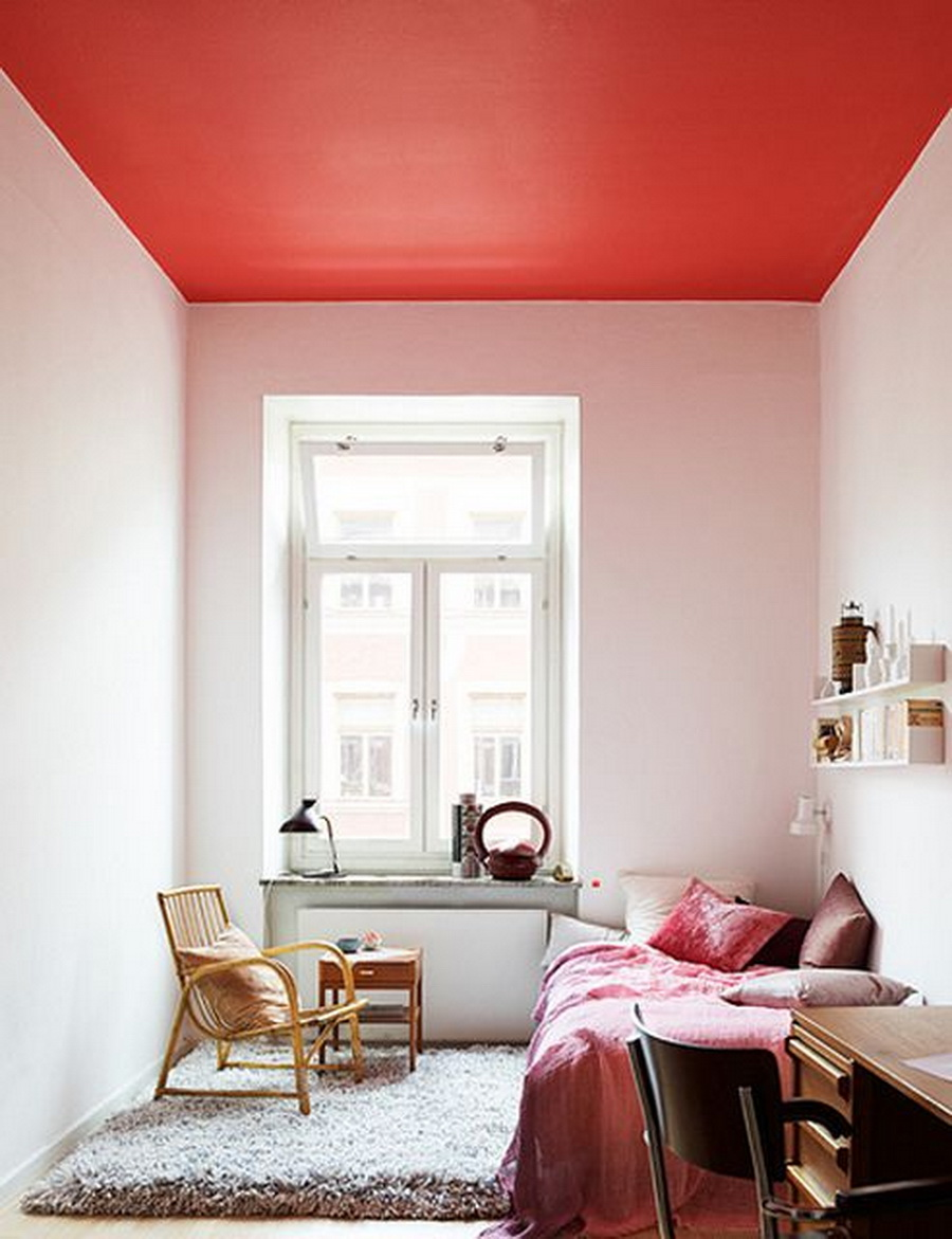 deco mix match plafond couleur chambre