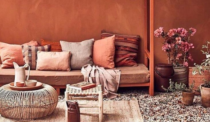 idee recues couleur terracotta decoration interieure