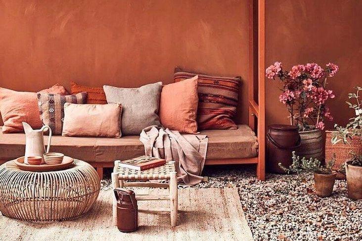 idee recues couleur terracotta decoration interieure
