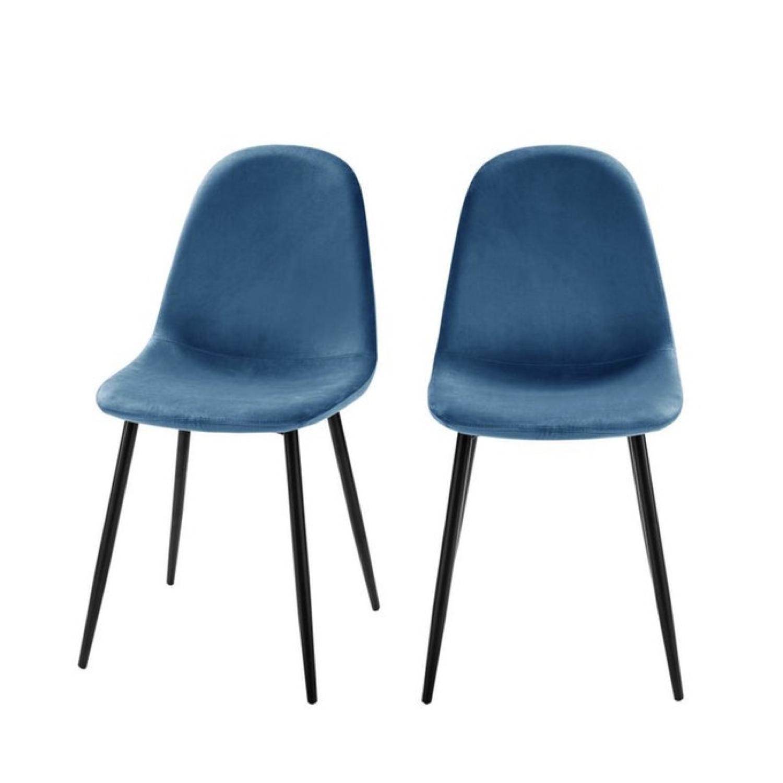 ou trouver chaise en velours bleu 003