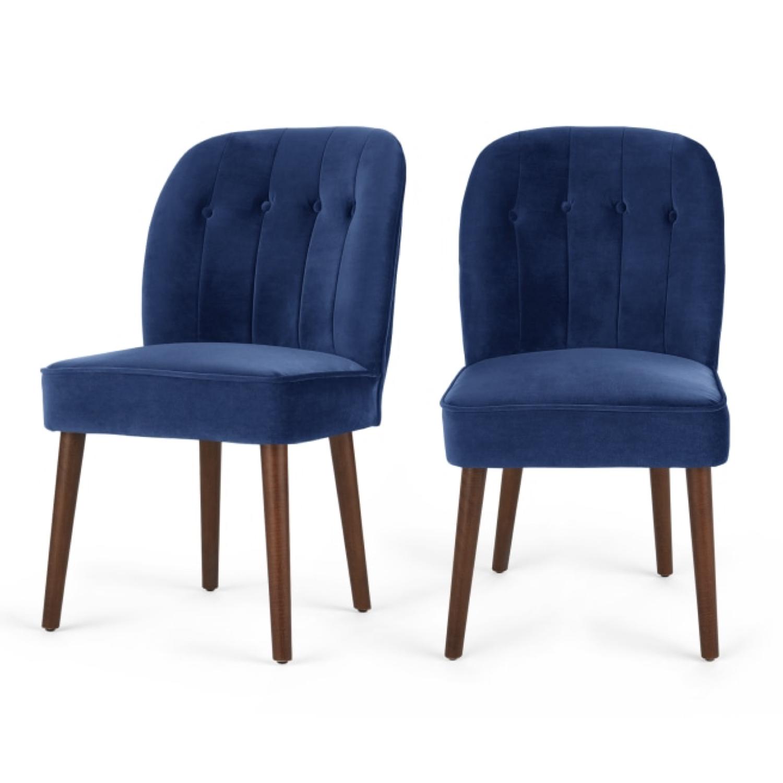 ou trouver chaise en velours bleu 004