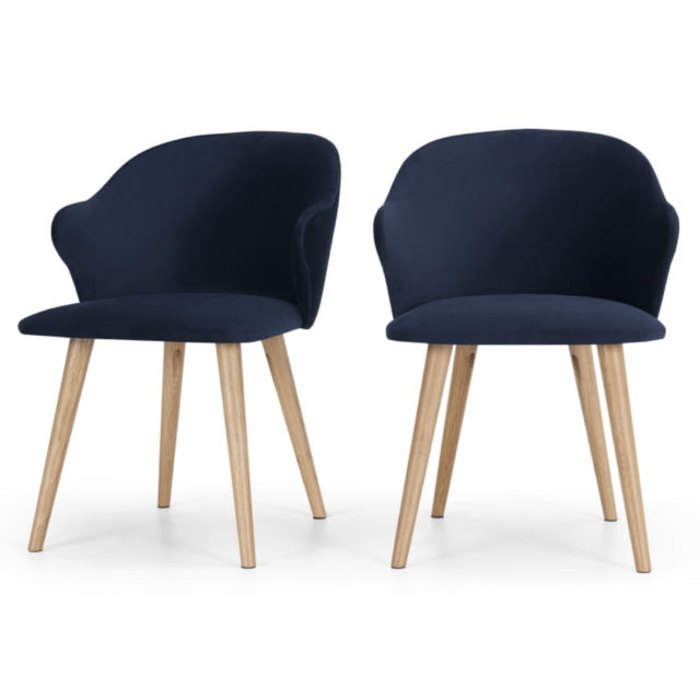 ou trouver chaise en velours bleu 005