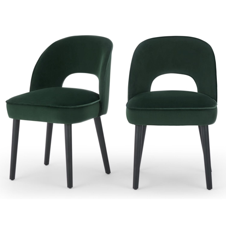 ou trouver chaise en velours vert 5