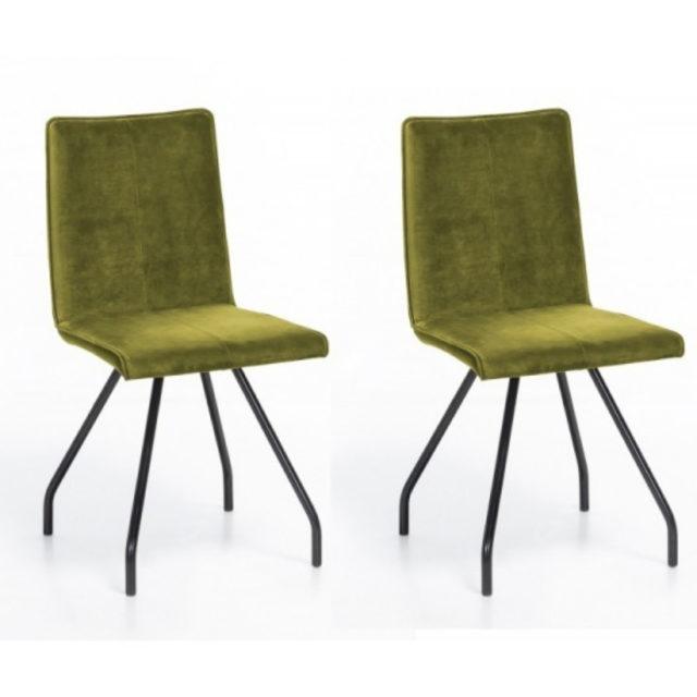 ou trouver chaise en velours vert 6