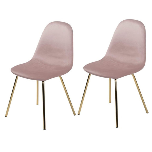 ou trouver chaise velours rose 4