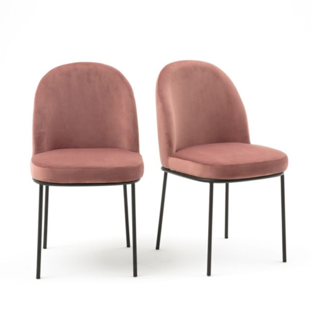 ou trouver chaise velours rose 5