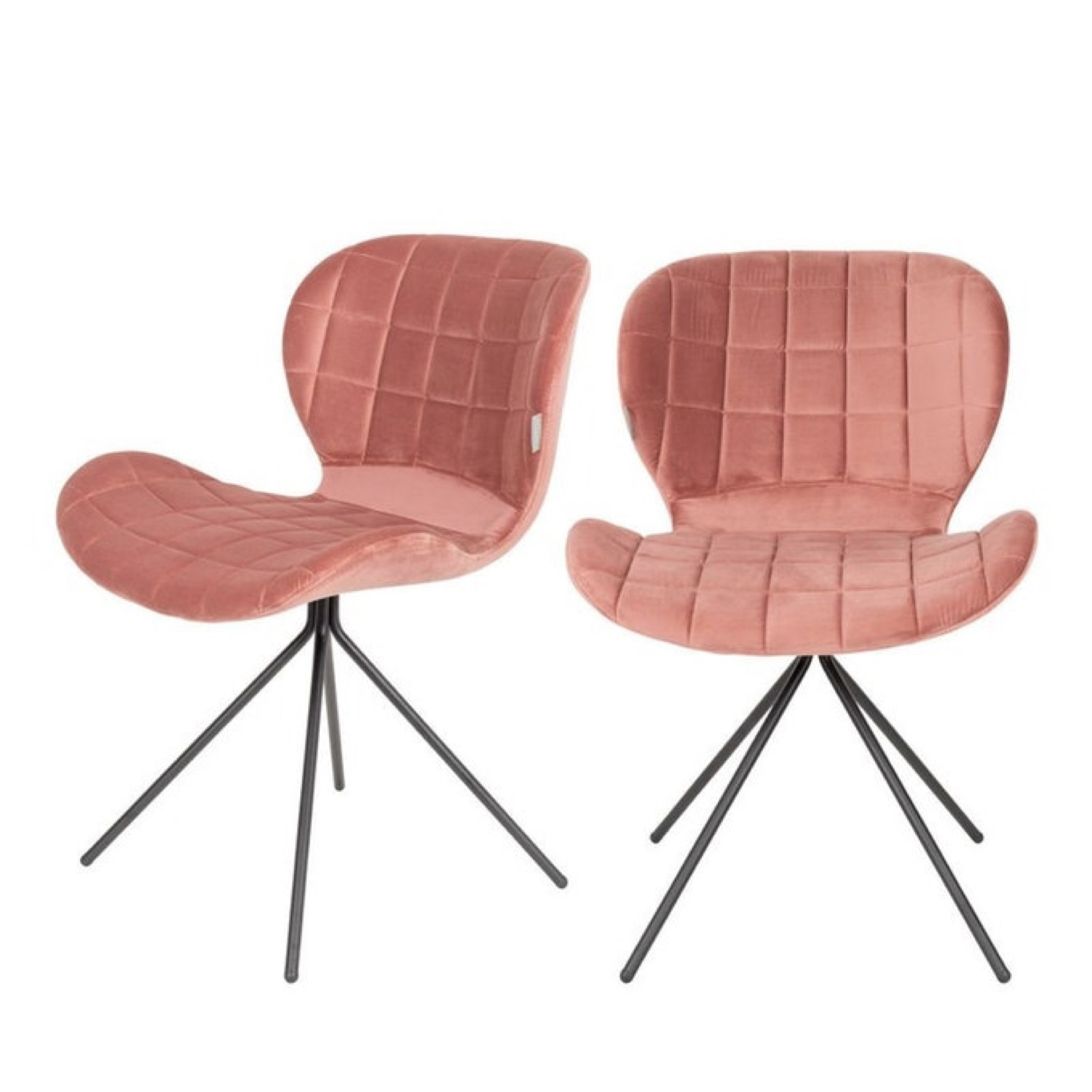 ou trouver chaise velours rose 6