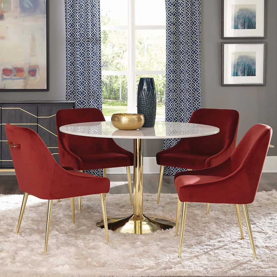 ou trouver chaise velours rouge