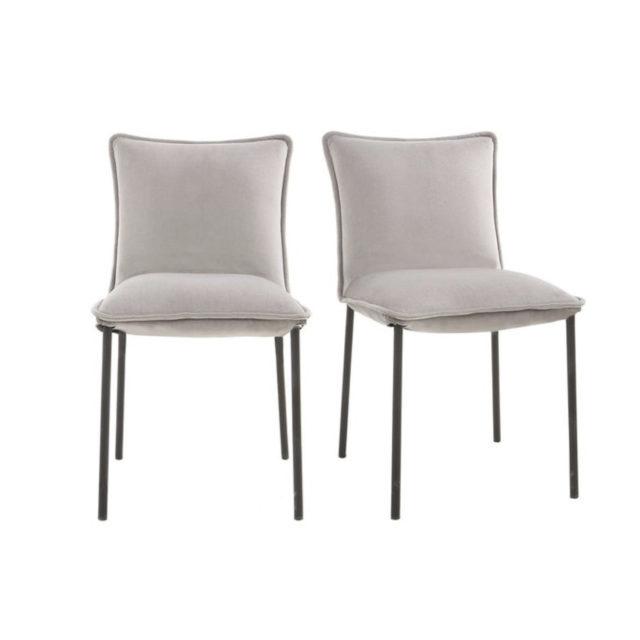 ou trouver chaises velours couleur gris blanc