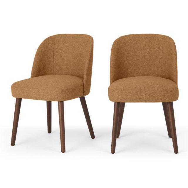 ou trouver chaises velours couleur naturel