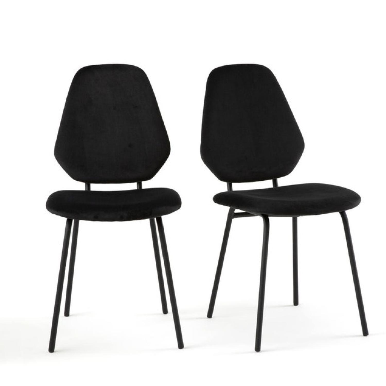 ou trouver chaises velours couleur noir pas cher