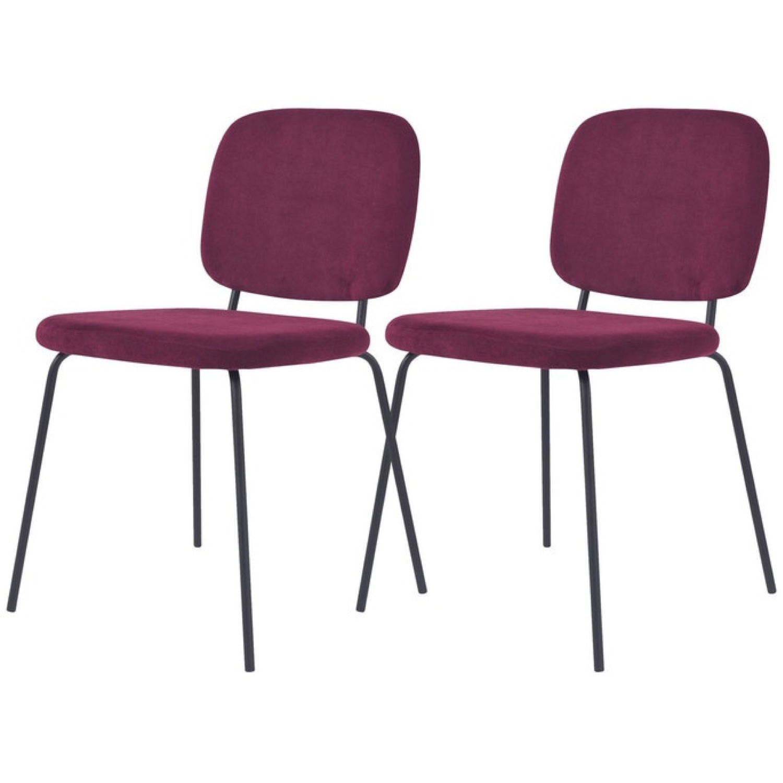 ou trouver chaises velours couleur prune