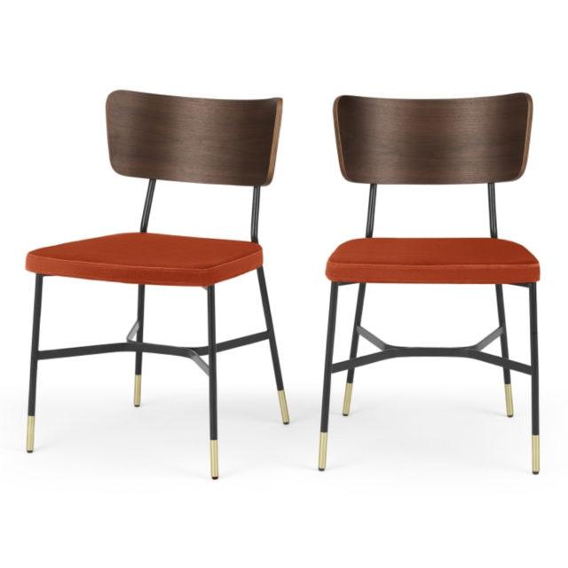 ou trouver chaises velours couleur rouge
