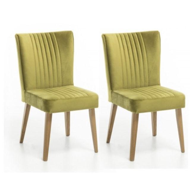 ou trouver chaises velours couleur vert jaune