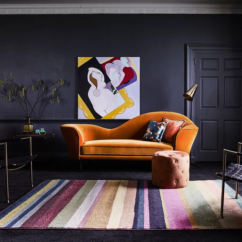 salon rock couleur idee