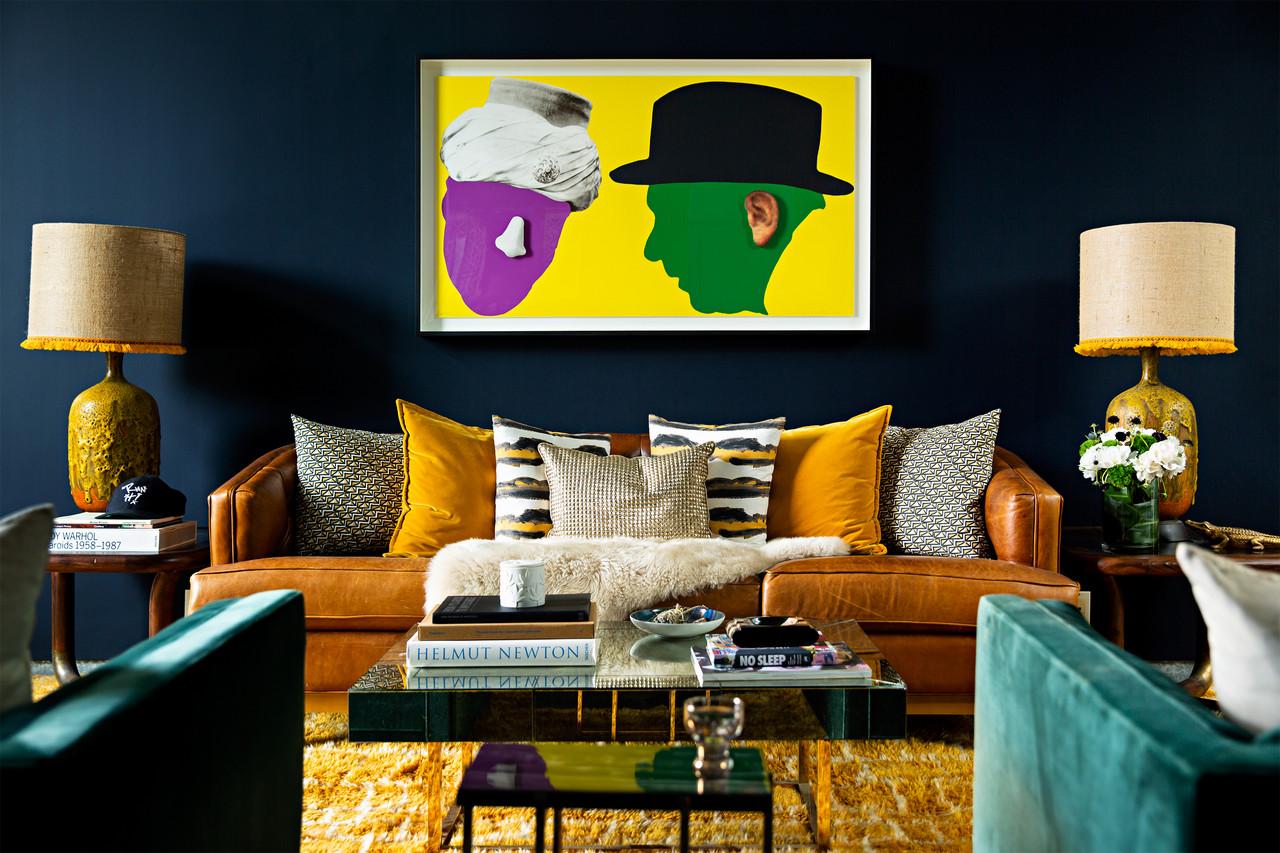 salon rock idee couleur