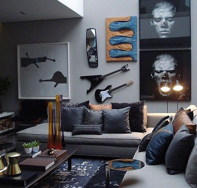 salon rock metal idee decoration