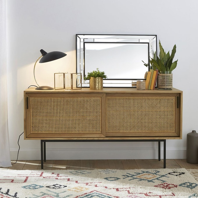 soldes meuble cannage buffet